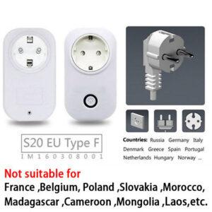 Sonoff S20 Wifi Power Switch 2000W 10A